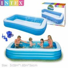 ขาย Babymom Noelife Swimming Pool สระว่ายน้ำเป่าลม 3 05X1 83X0 56 M สูบลมแยกชั้น พร้อมปั๊มไฟฟ้า 3 หัวสูบ