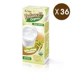 ราคา ขายยกลัง Balance น้ำข้าวกล้องออร์แกนิก รสไม่เติมน้ำตาล Top 8 Allergen Free รวม 36 กล่อง 4Care Balance Organic ใหม่