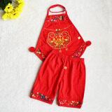 ทบทวน ชุดเอี๊ยมจีนเด็กอ่อน ผ้าคอตตอน สีแดง