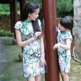 ซื้อ ทารกผ้าฝ้ายผ้าลินินจีนพ่อแม่และลูกปรับปรุงชุดเดรส Cheongsam ออนไลน์ ฮ่องกง