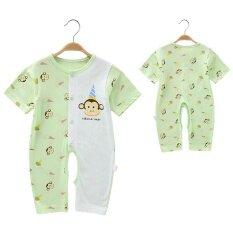 ขาย Coveralls ทารกปีนเสื้อผ้าฝ้ายแขนสั้นทารกแรกเกิด ฮ่องกง ถูก