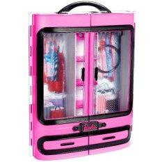 Barbie กล่องเก็บและตู้เสื้อผ้าของบาร์บี้.