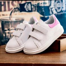 โปรโมชั่น สาวเด็กชายฤดูใบไม้ผลิใหม่รองเท้ากีฬารองเท้าสีขาว ถูก