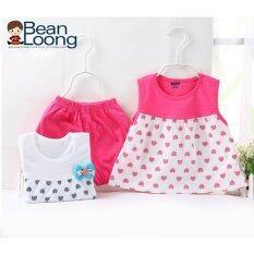 ขาย ชุดเด็กผู้หญิง Bean Loong เซ็ท 2 ชุด สีขาว สีชมพู อายุ 6 เดือน 4 ปี 6332F ถูก ใน ไทย