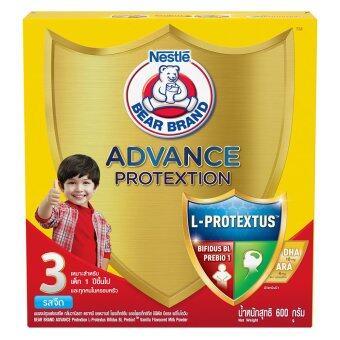 Bear Brand Advance Protextion นมผง ตราหมี สูตร 3 รสจืด ขนาด 600 กรัม