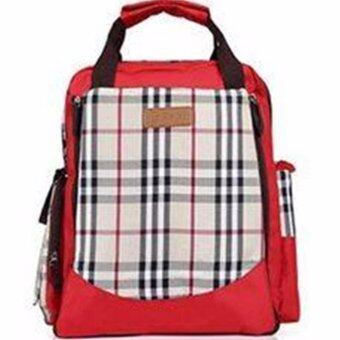 Best baby กระเป๋าใส่สัมภาระแม่และลูกน้อยสีแดง