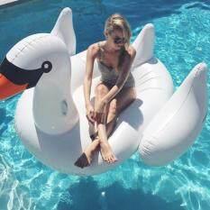ทบทวน ห่วงยาง Big Size ห่วงยางแฟนซี รูปนกฟลามิงโก Flamingo ลอยน้ำได้ สีขาว สีชมพู สีทอง