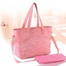 ซื้อ Big Size Newborn Baby Mummy Mother Stroller Diaper Bag Set Tote For Mom Nappy Bags Backpack Organizer Pink Intl ใหม่