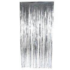 งานแต่งงานวันเกิดรีไซเคิลผ้าม่านม่านห้องรับแขกแขวนผ้าตกแต่ง Silver 200cm - Intl.