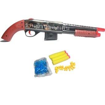 BKL TOY ปืนของเล่น MUNDO GUN ปืนลูกซองยิงกระสุนเจลโฟมและยาง 303