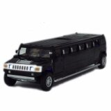 ส่วนลด สินค้า Black 1 32 Scale Alloy Model Toy Black Lengthen Hummer W Light Sound Kids Gifts Intl