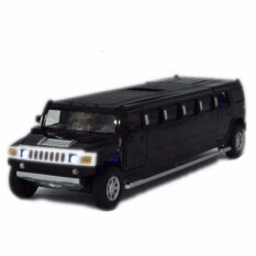 ราคา Black 1 32 Scale Alloy Model Toy Black Lengthen Hummer W Light Sound Kids Gifts Intl