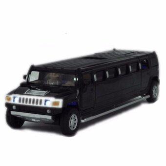 Black 1:32 Scale Alloy Model Toy Black Lengthen Hummer W LightSound Kids Gifts - intl