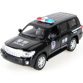 Black Police Car 1:32 Alloy Diecast Model Kids Car Toys