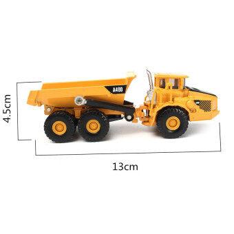 Black Shop International 1:87 Scale Alloy Diecast Dump Truck Construction Vehicle Cars Lorrytoys Model - Intl