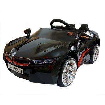 BMW i8 12V 2 Motors รถแบตเตอรี่ รถเด็กนั่งไฟฟ้า รถเด็กเล่นบังคับวิทยุ - Black