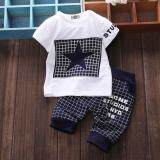 ทบทวน Boys Baby Star Plaid Fashion Summer Sets Kids Children Clothes Set Intl