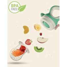 จุกซิลิโคนใส่ผลไม้ ฝึกให้ลูกเคี้ยวอาหาร ปราศจากสารbpa คุณภาพดี 100%.
