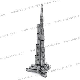 Burj Khalifa Tower 3D Metal Model Kit - โมเดลโลหะบุรจญ์เคาะลีฟะฮ์