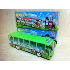 โปรโมชั่น Bus รถบัสโดยสาร รถเมล์ มีไฟ มีเสียงเพลง ชนถอย วิ่งเลี้ยวได้เอง ถูก