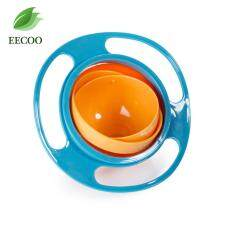 360 Degree Rotating Baby Food Eating Bowl Cute Toy Universal Kids Spill Proof Feeding Tableware Blue Intl เป็นต้นฉบับ