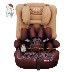 Ladylazyคาร์ซีท(car Seat) ที่นั่งในรถยนต์ขนาดใหญ่ Ggl สีน้ำตาล.