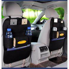 Car Seat Organizer Travel Storage Bag Auto Seat Back Organizer กระเป๋าเก็บของหลังเบาะรถยนต์.