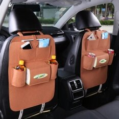 ที่ใส่ของ/สัมภาระ เอนกประสงค์ แบบติดด้านหลังเบาะรถยนต์ ถอดซักได้ Car Vehicle Back Seat Multi-pocket Organizer Hanging Travel Storage Bag
