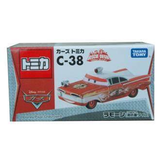 เหล็ก CARS TOMICA C-38 RESCUE GO! GO! RAMONE (FIRE CAR TYPE)