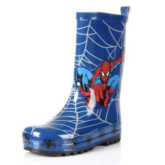 การ์ตูน Spider-Man Portable KIDS Child Baby Rain BOOTS รองเท้าส้นสูง-