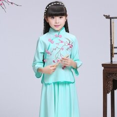 ซื้อ สไตล์จีนเจ้าหญิงใหม่เด็กชุดเดรสปรับปรุง Cheongsam เสื้อผ้าแฟชั่น ออนไลน์