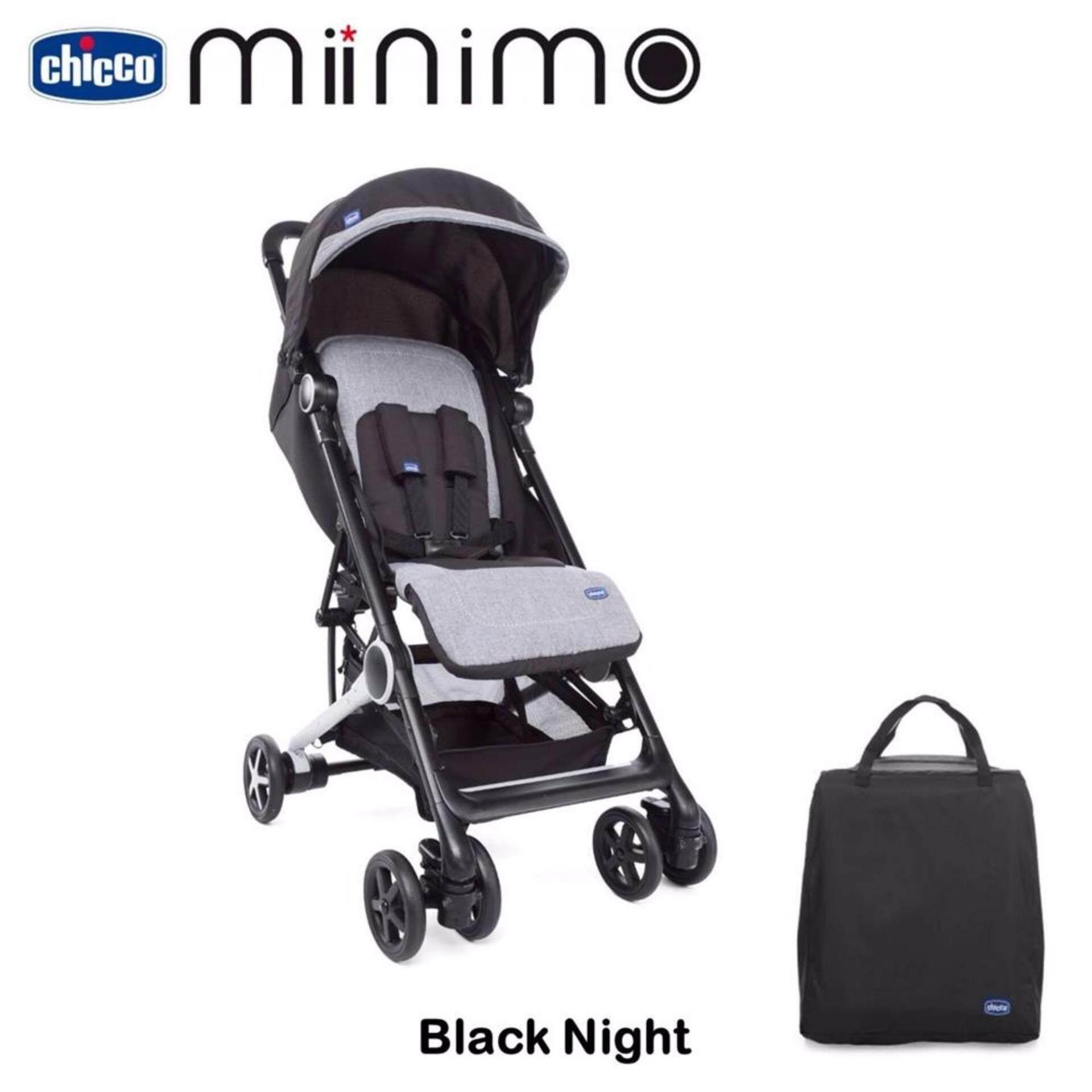 แนะนำเลือกซื้อ รถเข็นเด็ก Chicco Minimo Stroller สี Black Nigh ซื้อเว็บไหนไม่โกง