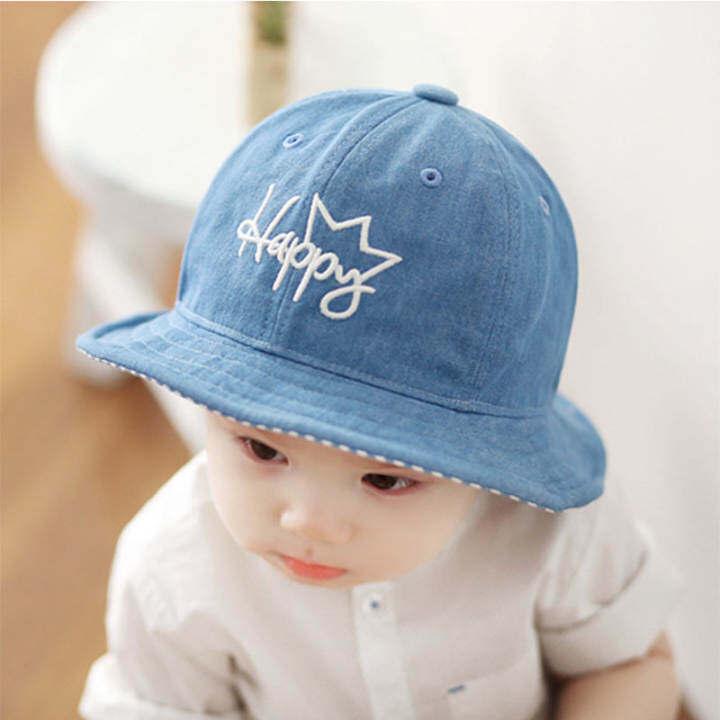 8c4983cf751 Haotom Children Boys Sun Hats Spring Summer Caps Cotton Bucket Hat Baby  Kids Boy Crown Cap