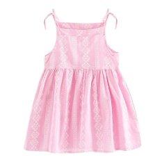 โปรโมชั่น Children Princess Dresses Baby Girls A Line Lace Sleeveless Dress 90Cm Intl Vakind