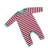 ขาย Christmas Baby Boys Girls Cute Stripe Jumpsuit Romper Sleepwear Pajamas Clothes Intl ใน จีน