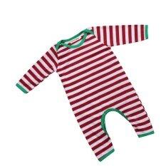 โปรโมชั่น Christmas Baby Boys Girls Cute Stripe Jumpsuit Romper Sleepwear Pajamas Clothes Intl ใน จีน