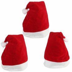 Christmas Hat หมวกซานต้า สำหรับแต่งกาย วันคริสต์มาส และวันปีใหม่ (3ใบ) By Sathorn.