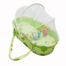 ขาย Chuchob ที่นอนเด็ก พร้อมมุ้ง สามารถถือหิ้วได้ สีเขียว Baby Boo เป็นต้นฉบับ
