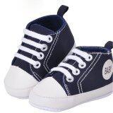 ซื้อ Cocotina เด็กหนุ่มเด็กสาวอ่อนนิ่มพื้นรองเท้ารองเท้า Prewalker แอนตี้สลิปรองเท้าผ้าใบ สีกรมท่า ระหว่างประเทศ ใหม่