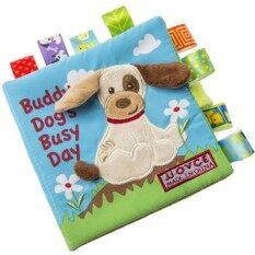 เด็กทารกที่มีสีสันสัตว์ผ้าหนังสือเด็กทารก Kid Intelligence Development เรียนรู้สัตว์รูปร่างเตียงของเล่นเสริมพัฒนาการเด็กของขวัญของเล่นเพื่อการศึกษาข้อมูลจำเพาะ: ลูกสุนัข.