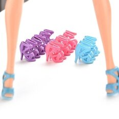ส้นสูงสีสันสดใสรองเท้าสำหรับ Barbie 10 คู่ - สนามบินนานาชาติ.