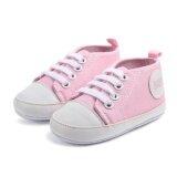 Colors Infant Baby Kids Boy G*rl Sneakers Soft Sole Non Slip Crib Canvas Shoes Intl เป็นต้นฉบับ