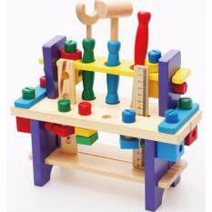โปรโมชั่น ของเล่นไม้เสริมพัฒนาการ ชุดเครื่องมือช่าง Combines The Tool Wooden Toys