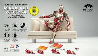 Comicave Studios 1/12 Scale Iron Man Mark XLII Collectible Figure with Sofa Set (SDCC 2016 Exclusive)