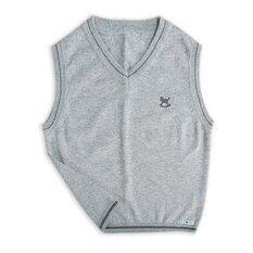 Como เสื้อกั๊กเด็กไซส์ L - สีเทากลาง By Miroggio.