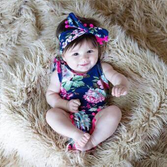 Cool Floral ชุดนอนเด็กทารกผู้หญิงเสื้อผ้าสำหรับ 0-24 เมตร-
