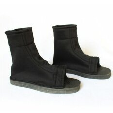 Cosplay Shoes Blue Black Fuu Cosplay Party Ninja Shoes Boots Costume Black 39:27cm*9.5cm*2cm - Intl.