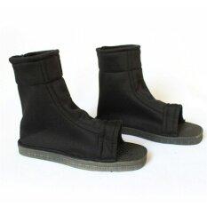 รองเท้าคอสเพลย์สีฟ้าสีดำ Fuu คอสเพลย์พรรคนินจารองเท้าบู๊ทเครื่องแต่งกายสีดำ 43: 29 เซนติเมตร * 9.5 เซนติเมตร * 2 เซนติเมตร - นานาชาติ.