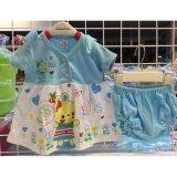ส่วนลด ชุดกระโปรงเด็ก ผ้ายืด Cotton พร้อมกางเกงใน 3 6 เดือน กรุงเทพมหานคร