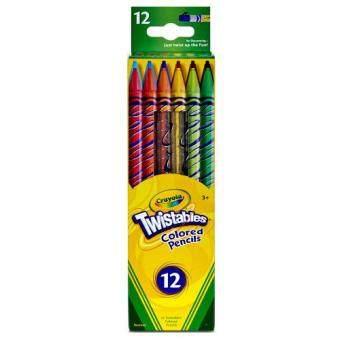 Crayola สีไม้หมุนได้ไม่ต้องเหลา 12สี
